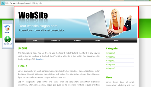 Template Website