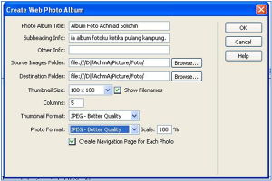 Album Foto Dreamweaver
