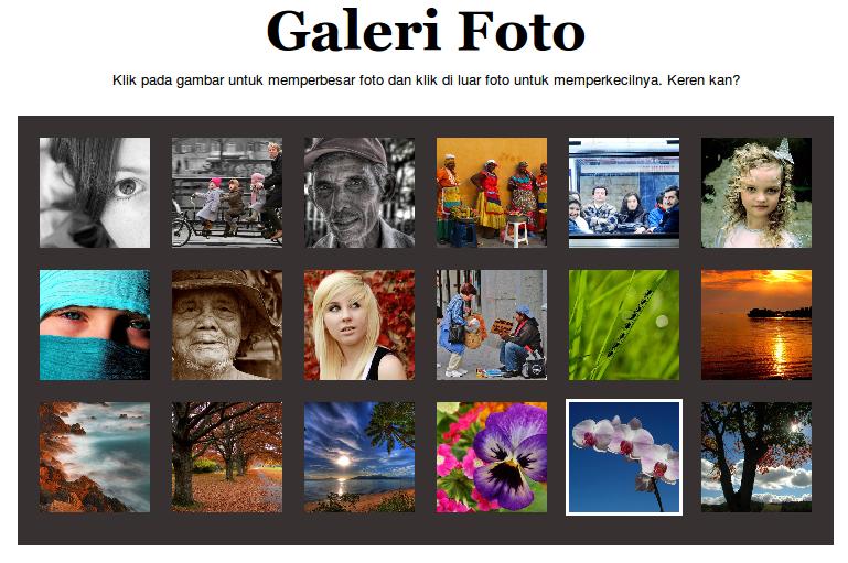 Tampilan Galeri Foto dengan JQuery Zoomooz