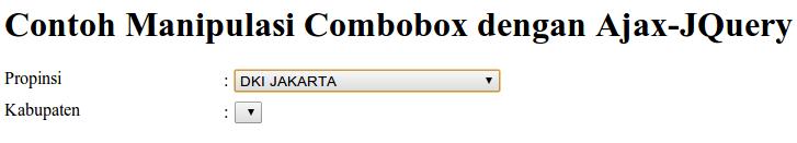 Tampilan Combobox